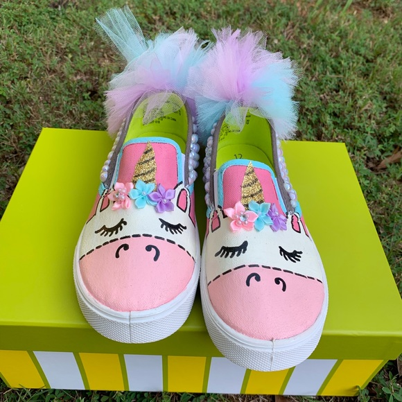1cf5b95258ab5 Unicorn Custom Hand-Painted Shoes (Kids 12)